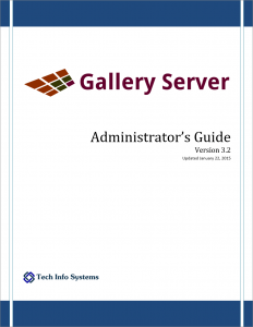Screen shot of Gallery Server Administrator