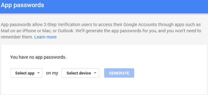 Use Gmail as your SMTP Server – even when using 2-factor