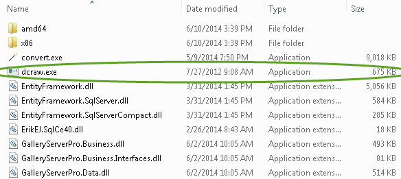 dcraw.exe in the bin directory