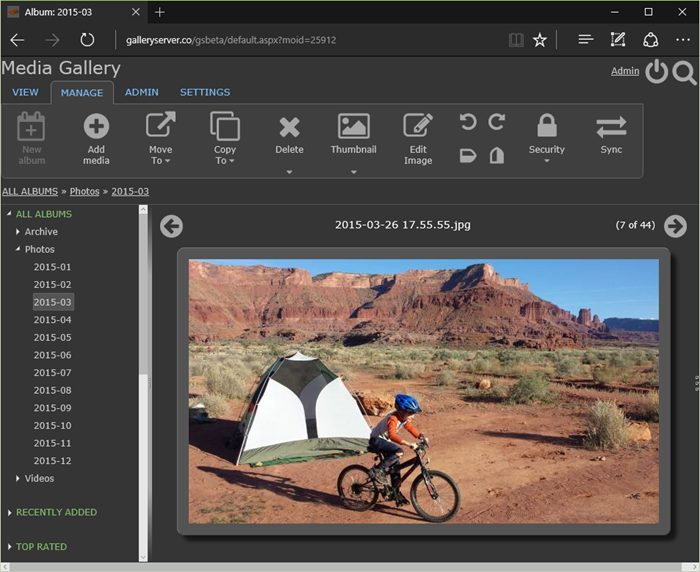 New image editor in Gallery Server 4.0