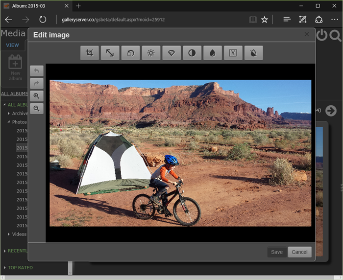 The image editor window