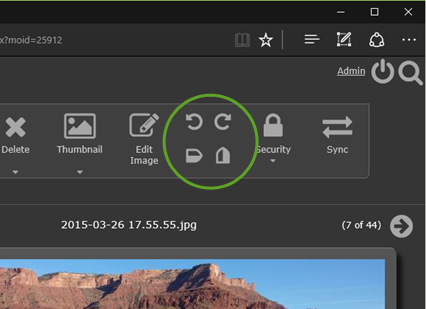 The new rotate/flip buttons in Gallery Server 4